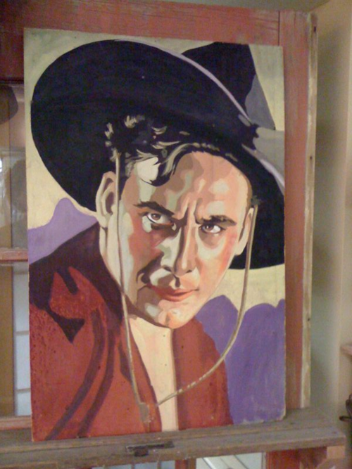 COWBOY painting of love
