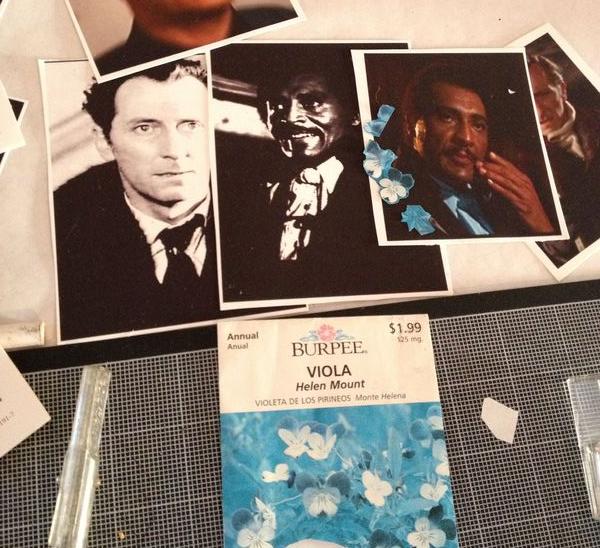 Cushing Marshall collage table